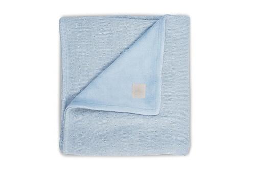 JOLLEIN Couverture bébé 75x100cm soft knit teddy - bleu