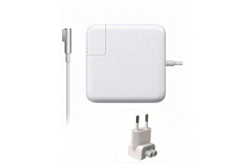 Hexapart Chargeur pour apple macbook pro 60w 16,5v 3,65a a1184 a1330 a1344 (coudé) magsafe 1 (pas 2)