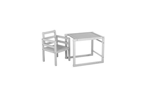 AT4 Ateliers T4 Chaise Haute Bois Transformable Et Moderne Blanc