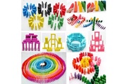 Bpfy Bpfy - jeux de societe dominos 120 pieces en bois - 12 couleurs differentes