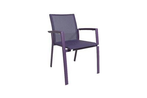 Gecko Jardin Chaise En Aluminium Et Textilne Violet Sydney