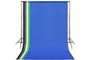 Vidaxl Kit de studio avec 5 toiles de fond colorées et cadre réglable