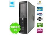 Hp Pc hp elite 8200 sff intel core i3 3.1ghz 16go disque 500go dvd wifi w7