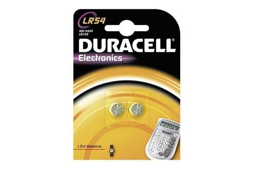Duracell Pack de 2 piles bouton duracell lr54 (ag10)