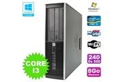 Hp Pc hp elite 8200 sff intel core i3 3.1ghz 8go disque 240go ssd dvd wifi w7