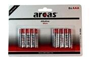 Arcas Pack de 8 piles alcalines arcas micro aaa