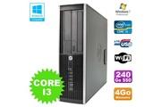 Hp Pc hp elite 8200 sff intel core i3 3.1ghz 4go disque 240go ssd dvd wifi w7