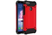 Xunylyee 2 en 1 coque pour huawei p smart smartphone protection souple slim silicone antichocs - rouge