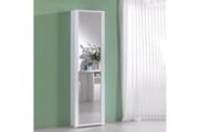 Terraneo Meuble à chaussures millenium blanc avec porte miroir