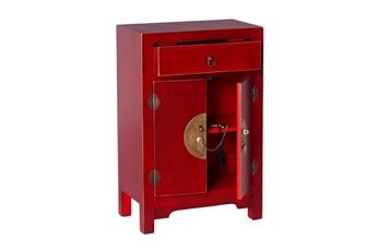 Confiturier 2 portes, 1 tiroir rouge meuble chinois - pekin - l 45 x l 26 x h 69 - neuf