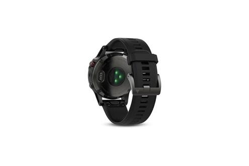 Garmin Garmin montre gps fenix 5 - 10 atm - noir et gris - mixte