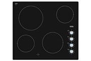 Viva Table de cuisson vitrocéramique 60cm 4 feux 6.6kw noir - viva - vvk26r75c1