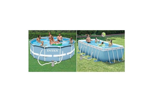 Cm 200 Piscine Frame Rectangle X Tubulaire Intex Prism 400 100 7f6IbgyYv