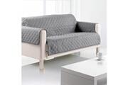 Sde Housse de canapé 3 places microfibre 179x265 cm gris