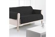 LES DOUCES NUITS DE MAE Housse de canapé 2 places microfibre 179x220 cm noir