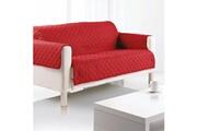 LES DOUCES NUITS DE MAE Housse de canapé 2 places microfibre 179x220 cm rouge