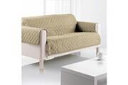 Sde Housse de canapé 3 places microfibre 179x265 cm argile