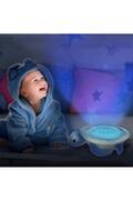 Oregon Scientific Veilleuse musicale et projecteur d'étoiles colorée tortue (bleu)