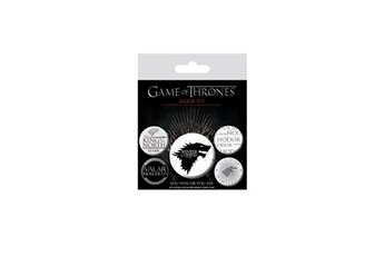 Game of thrones - pack 5 badges winter is coming