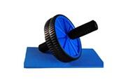 Todeco Ab roller avec tapis pour genoux, roue abdominale, bleu, charge maximale: 100 kg