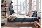 NATURALEX Naturalex - matelas ergonomique aura 180x200 cm mémoire de forme - mousse adaptative blue latex® - double face - 25 cm