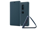 Sony Scsh40 - etui style cover stand bleu vert pour xperia xz2