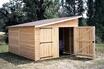 CIHB Garage en bois avec porte double 1 pente kompact 4 m photo 2