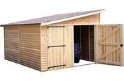 CIHB Garage en bois avec porte double 1 pente kompact 5 m