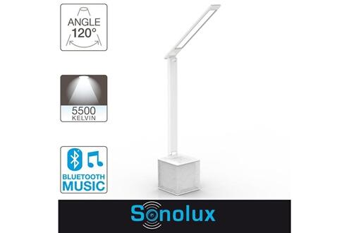 Lampe De Sonolux Led Lumens Xanlite Bureau Haut Bluetooth Parleur 550 Y7yv6gfb