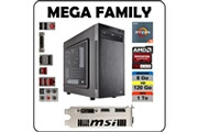 Atlanpolis Pc mega family amd ryzen 5 1500x / 8 go ddr4 / ssd 120 go + 1 to / carte graphique amd rx 460 / windows 10