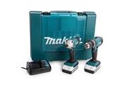 Makita Makita pack perceuse-visseuse a percussion hp457d & visseuse a chocs td127d - livré avec 2 batteries 18 v 1,3ah