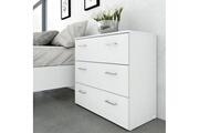 AUCUNE Space commode de chambre style contemporain blanc - l 74 cm