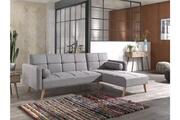 Bestmobilier Zara - canapé d'angle réversible convertible au style scandinave en tissu - 238x82x156cm couleur - gris clair