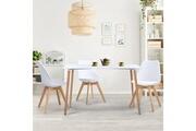 Idmarket Table à manger scandinave sara 120 cm blanche