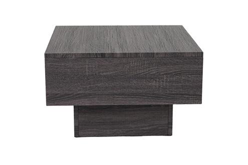 Mendler Table basse de salon hwc-a31, structure 3d fsc 37x60x60cm ~ aspect chêne noir