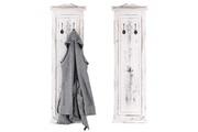 Mendler 2x patère, portemanteau, vestiaire ouvert, 28x3,5x109cm, shabby, vintage, blanc