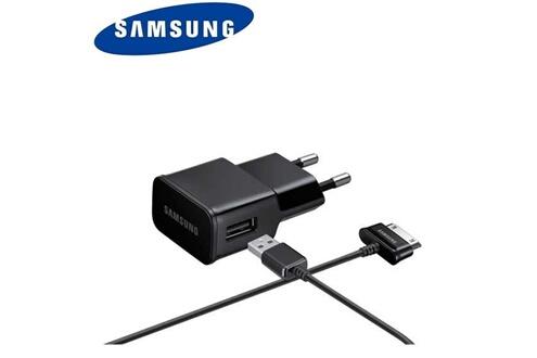 Samsung Chargeur usb 2a avec cable usb 30 pin pour sam n8000 -noir