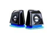 Accessory Power Gogroove haut-parleurs portables multimédia 2.0 enceintes pc usb avec led bleus