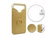 PH26® Hp elite x3 pack coque arrière or gold strass avec bague + 2 verres trempés dureté maximale