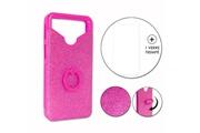 PH26® Hp elite x3 pack coque arrière rose strass avec bague + verre trempé dureté maximale