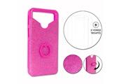 PH26® Hp elite x3 pack coque arrière rose strass avec bague + 3 verres trempés dureté maximale