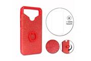 PH26® Hp elite x3 pack coque arrière rouge strass avec bague + verre trempé dureté maximale