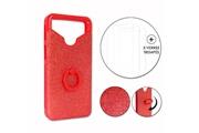 PH26® Hp elite x3 pack coque arrière rouge strass avec bague + 3 verres trempés dureté maximale