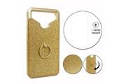 PH26® Hp elite x3 pack coque arrière or gold strass avec bague + verre trempé dureté maximale