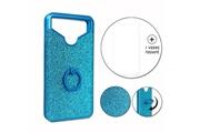 PH26® Hp elite x3 pack coque arrière bleue strass avec bague + verre trempé dureté maximale
