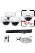 Hik Kit vidéosurveillance hd 4 caméras dômes hikvision
