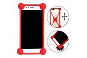 PH26® Hp elite x3 coque bumper rouge antichoc en silicone de qualité