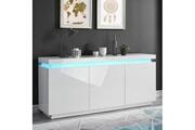 AUCUNE Odyssee buffet led contemporain blanc laqué brillant - l 170 cm