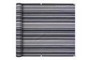 GENERIQUE Vie en extérieur serie kingston paravent de balcon tissu oxford 75 x 600 cm bande gris