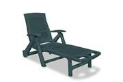 GENERIQUE Sièges d'extérieur edition tegucigalpa chaise longue avec repose-pied plastique vert